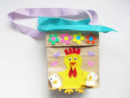 Paper bag easter baskets