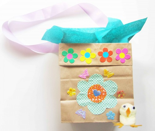 Easter basket and chick