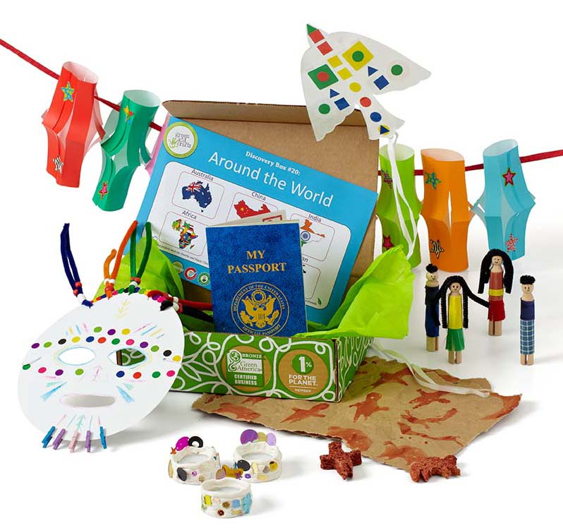 Around The World Discovery Box Kids Geography Gifts Green Kid Crafts