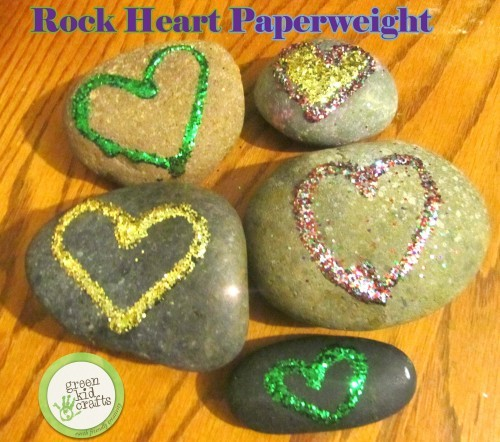 rock heart paperweights