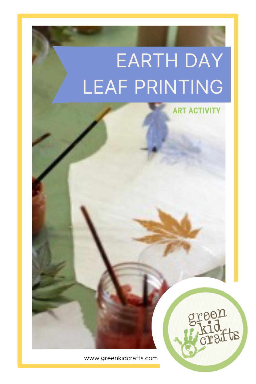 Earth Day Leaf Printing