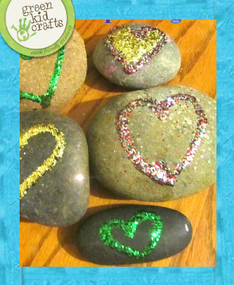 rock heart paperweight craft