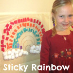 sticky rainbow craft