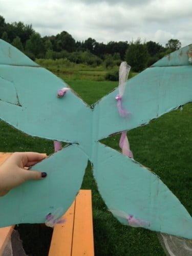 Cardboard fairy wings