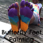 Butterfly Feet Painting