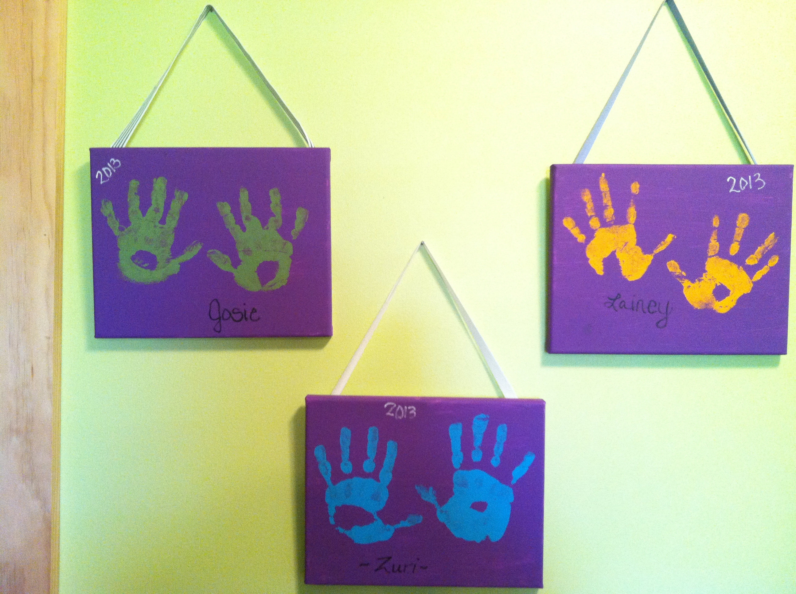 Family Handprints On Canvas - The Best Hand Of 2018