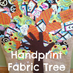 Handprint Fabric Tree