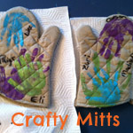 Handprint Oven Mitts