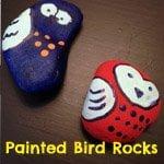 Painted bird rocks