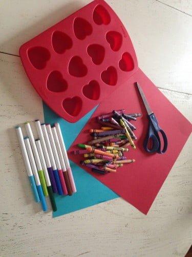 Homemade Crayon Valentines