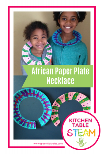 paper plate necklace