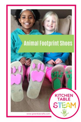 animal footprint shoes