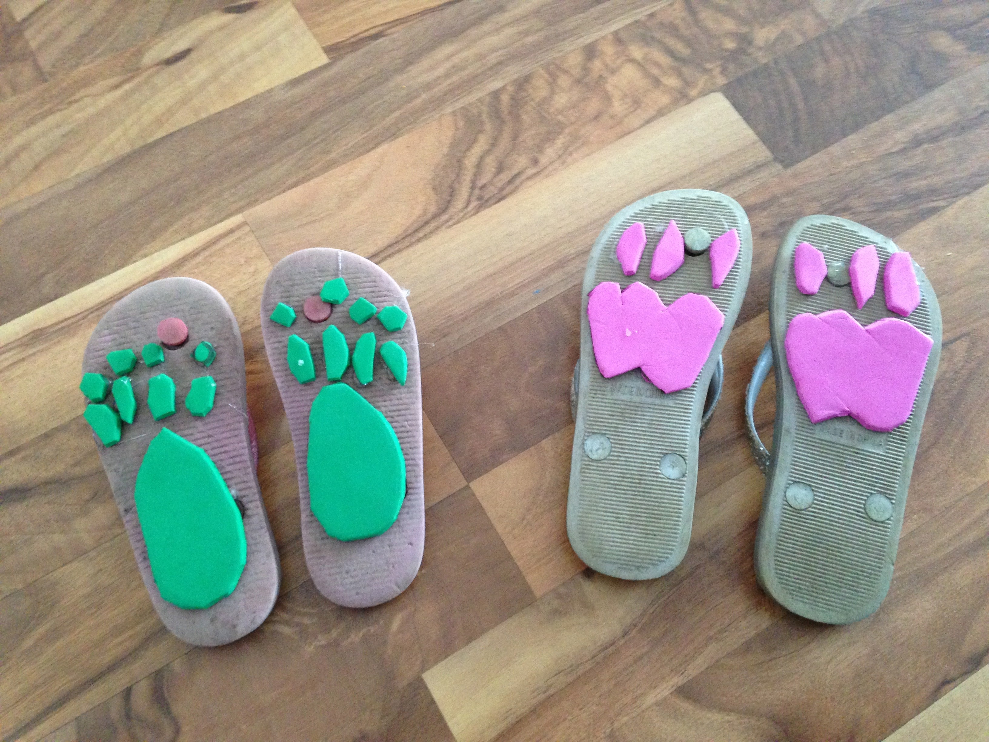 2a3f04672286 Animal Footprint Shoes - Green Kid Crafts