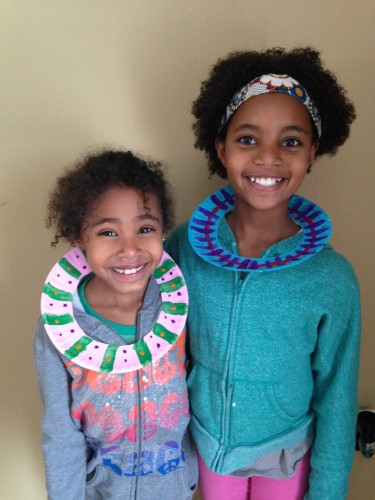 African Paper Plate Necklaces