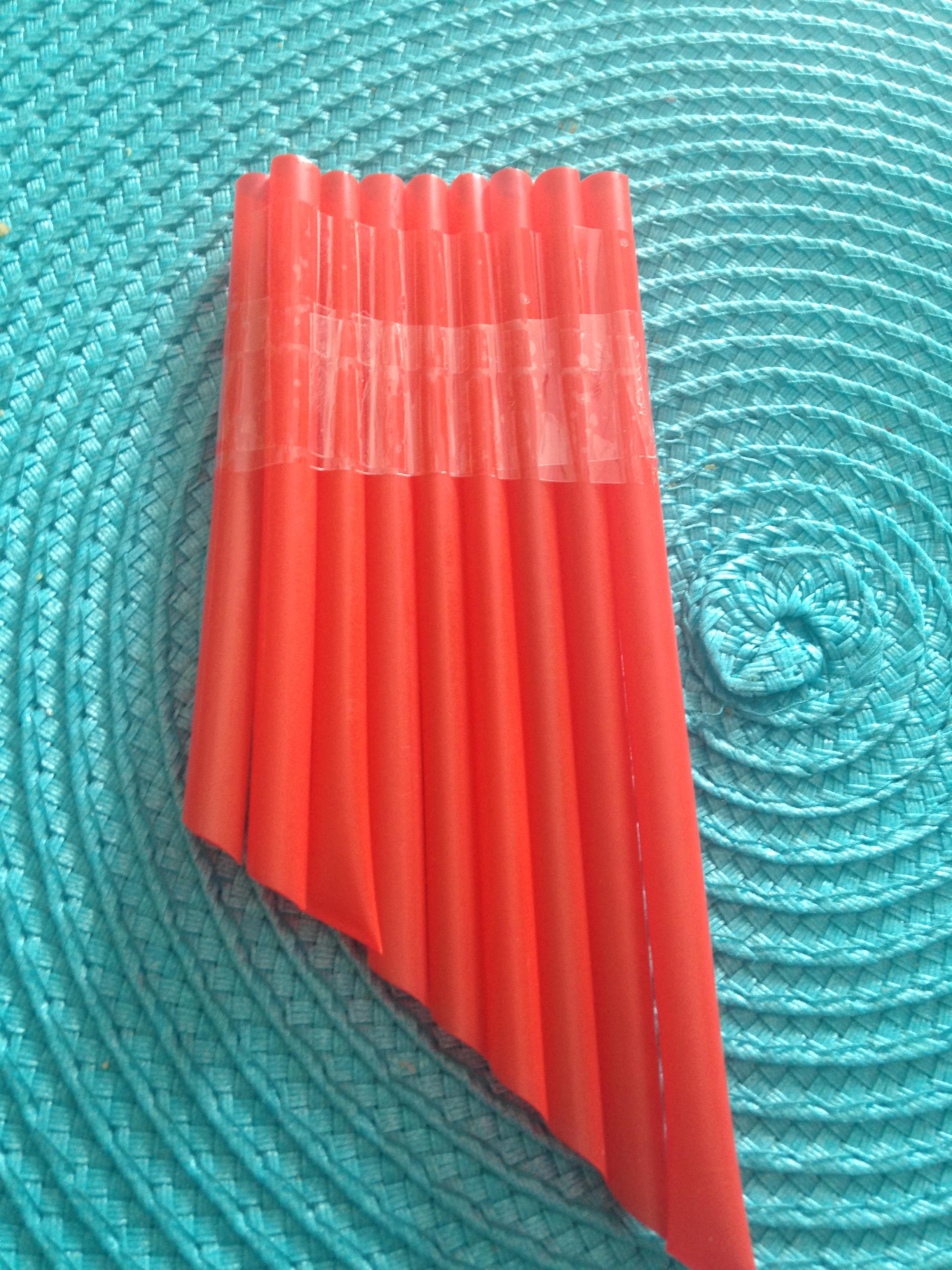 Straw Pan Flute Green Kid Crafts