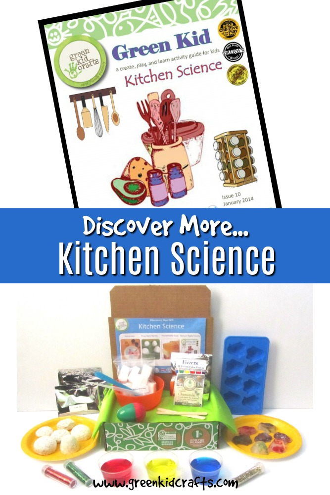 Discover more science activities to go with the Green Kid Crafts Kitchen Science Discovery Box for kids.