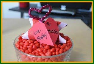 Valentine's Day treat holder