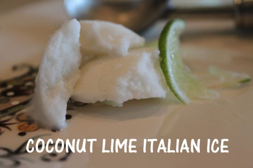 Coconut Lime Italian Ice