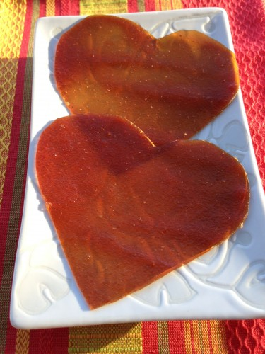 heart fruit leather