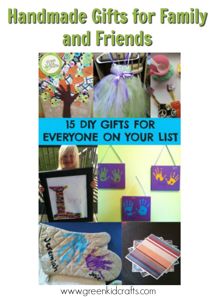 DIY gifts for everyone on your list. Handmade gifts for kids, parents, grandparents, siblings and friends!