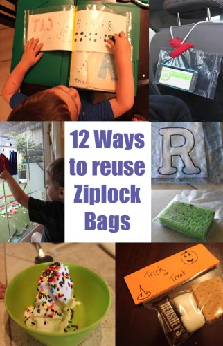 ways to resue ziplocks