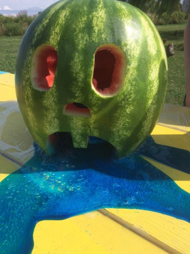 Watermelon volcano