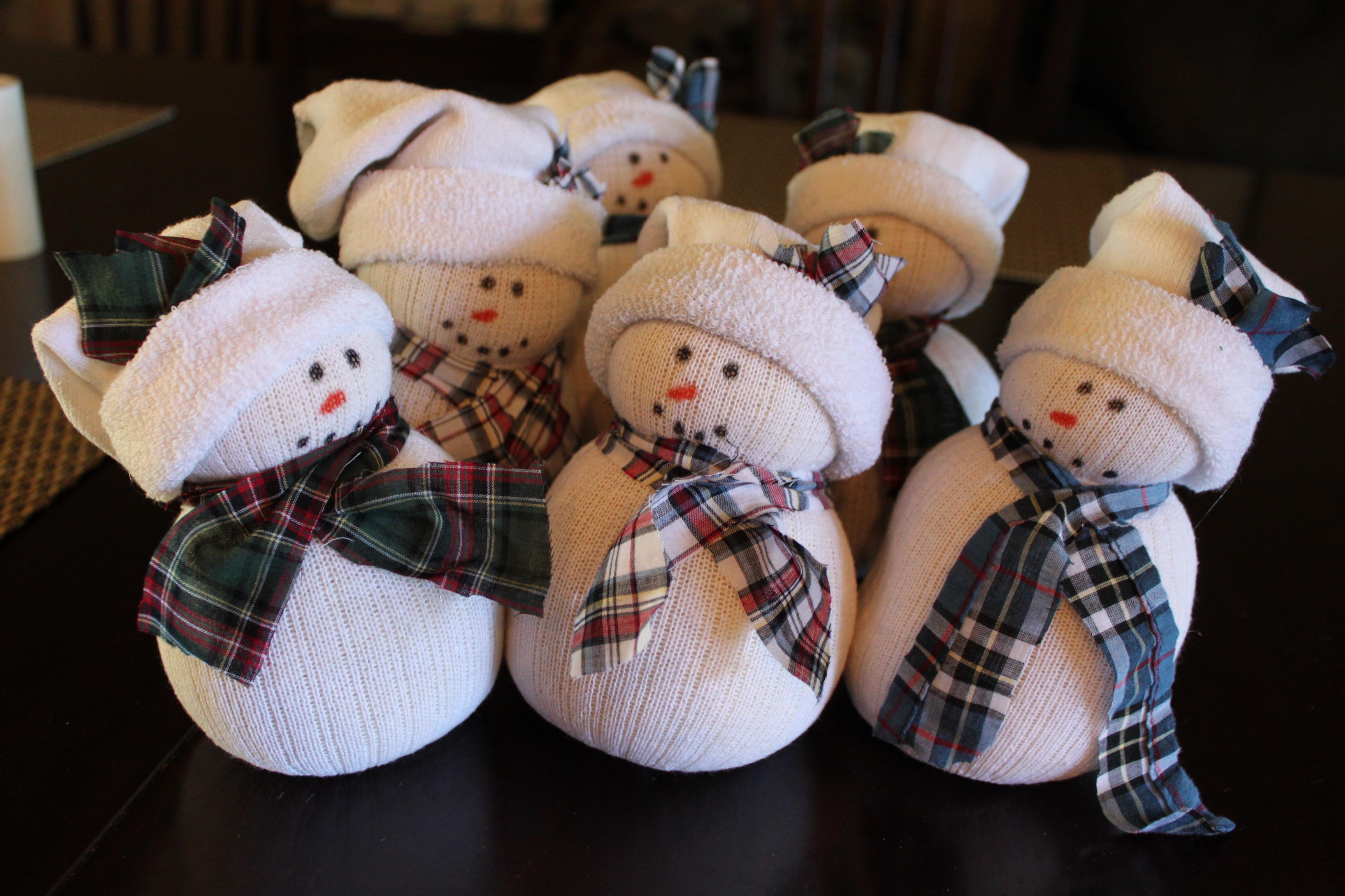 Sock Snowman 030