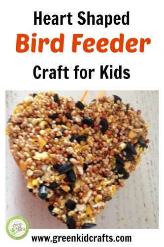 Make a heart shaped bird feeder ornament to hang in your yard. Great craft to give back to the birds in your neighborhood!