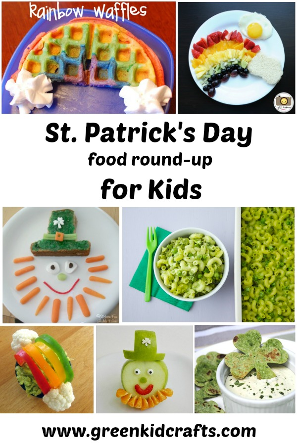 St. Patrick's Day food for kids. Green food for St. Patrick's day.