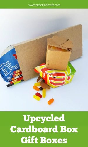 Upcycle cardboard boxes into gift boxes and other fun crafts! Great way to teach kids about recycling and reducing waste. Cardboard box crafts.