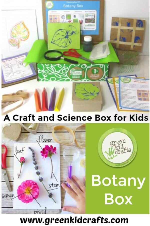 Introducing the Botany Box for kids. Crafts and science in one box! Botany for kids.