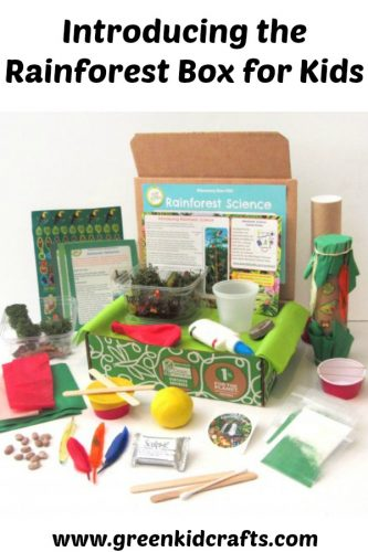 Introducing the rainforest box for kids. Crafts and science activities packed into one box. STEAM, STEM for kids.