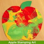 apple stamping art