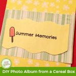 DIY Photo Album from Cereal Box