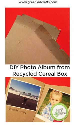Recycle a cereal box into this cute photo album. Makes a great gift or keepsake for kids!