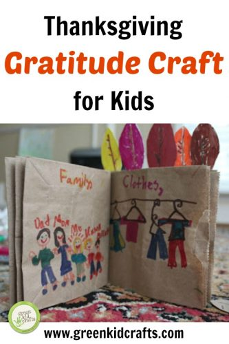Make a gratitude book from recycled materials! Teach gratitude for kids with this simple diy craft for fall.