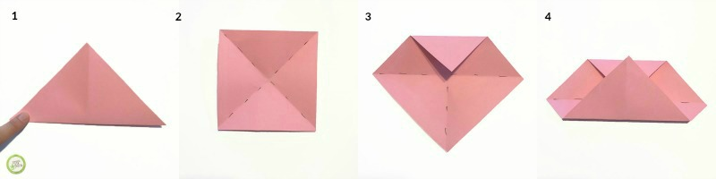 Origami Heart Pocket Instructions | Free Printable Papercraft ... | 200x800