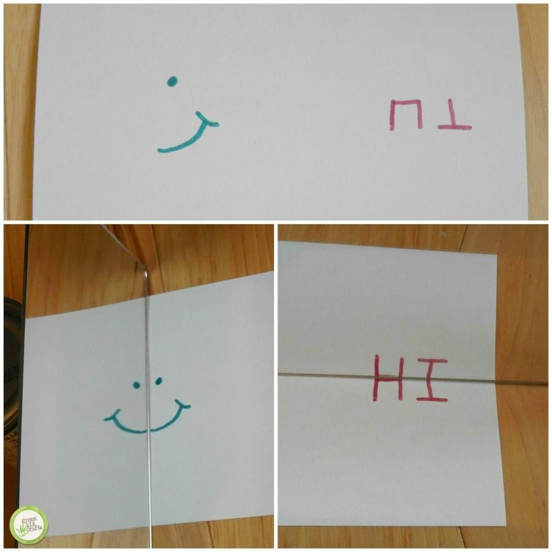 Kids Can Write Letters Words Pictures Or Just Scribbles And Hold The Mirror Upright On Top Of Their As They Move Around What Do