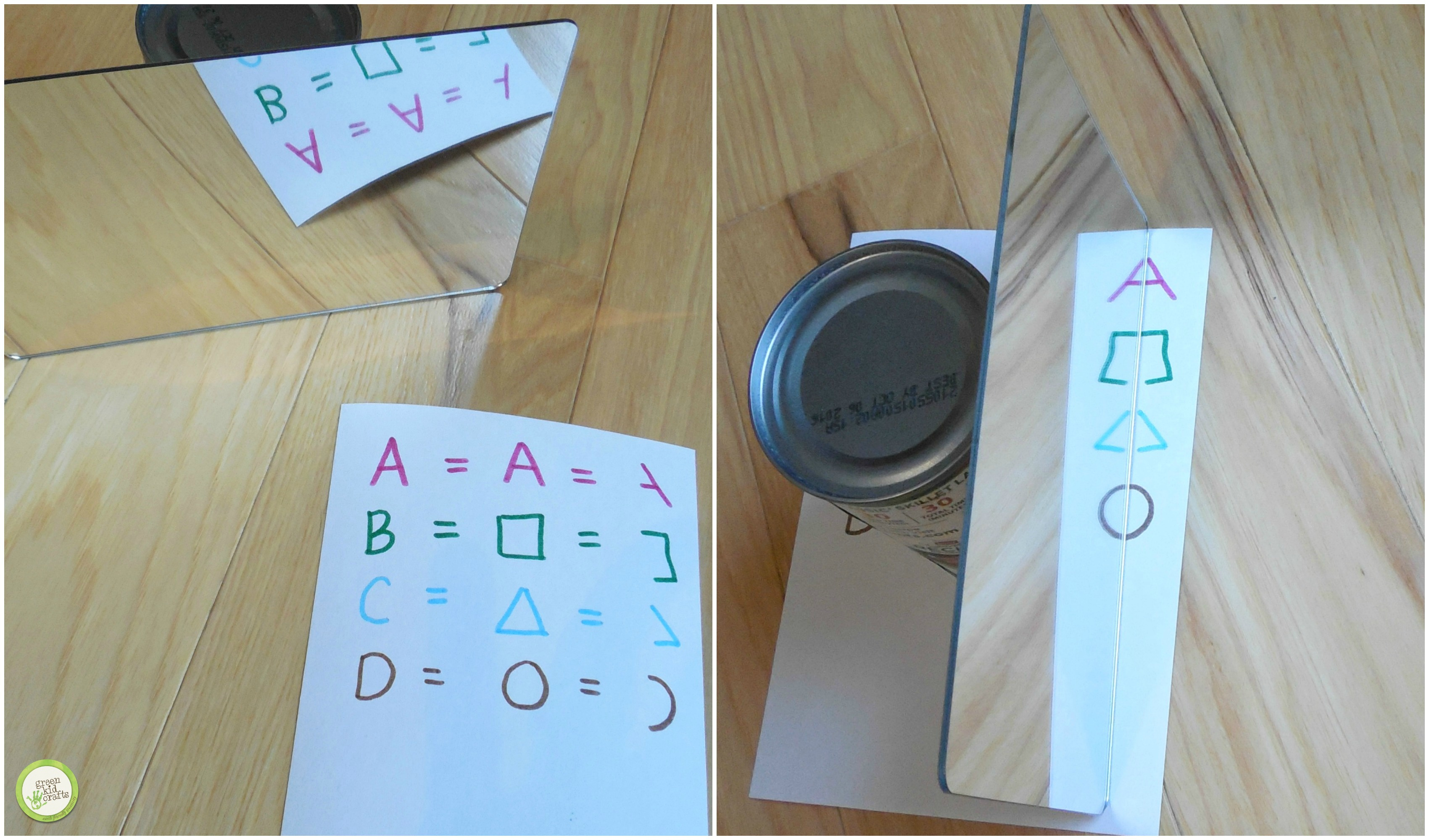 How to make a Secret Message with Mirrors - Green Kid Crafts