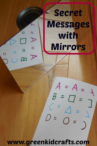 Make secret messages with mirros. Kids will love this fun experiment using mirrors to create secret messages.