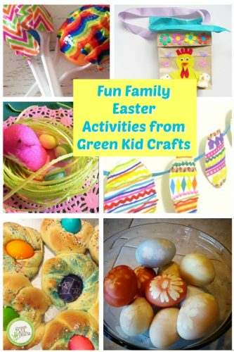 Fun family Easter activities roundup. How to natrually dye Easter aggs, make Italian Easter bread, kids Easter crafts and Easter treats for kids.