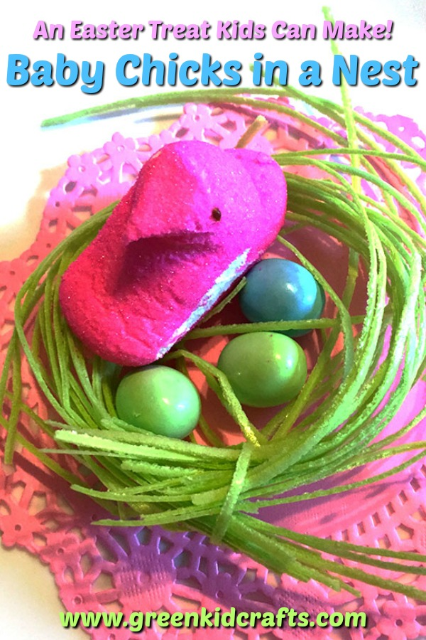 DIY Easter treat kids can make! Here's a cute spring snack for kids.
