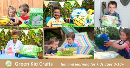 Green Kid Crafts is a monthly subscription service that delivers boxes full of science, art, craft and imaginative projects and materials to kids ages 3-10.