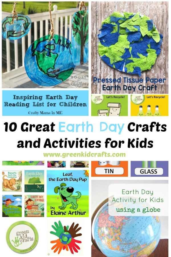 10 Great Earth Day Activities for kids. Earth Day crafts for kids that will get them upcycling, recycling, and learning about the environment this earth month!