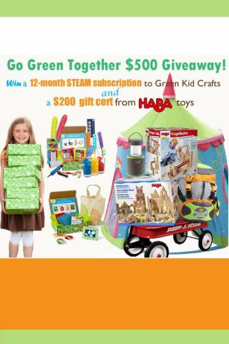 Spring giveaway! Green Kid Crafts and HABA Toys Green Together Giveaway!