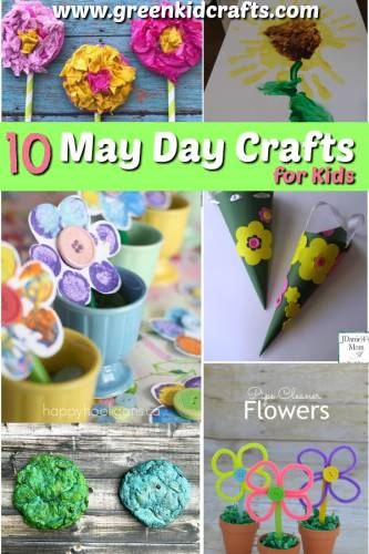 May day crafts for kids. Flower crafts, spring crafts for kids. Make these pretty crafts to celebrate spring...