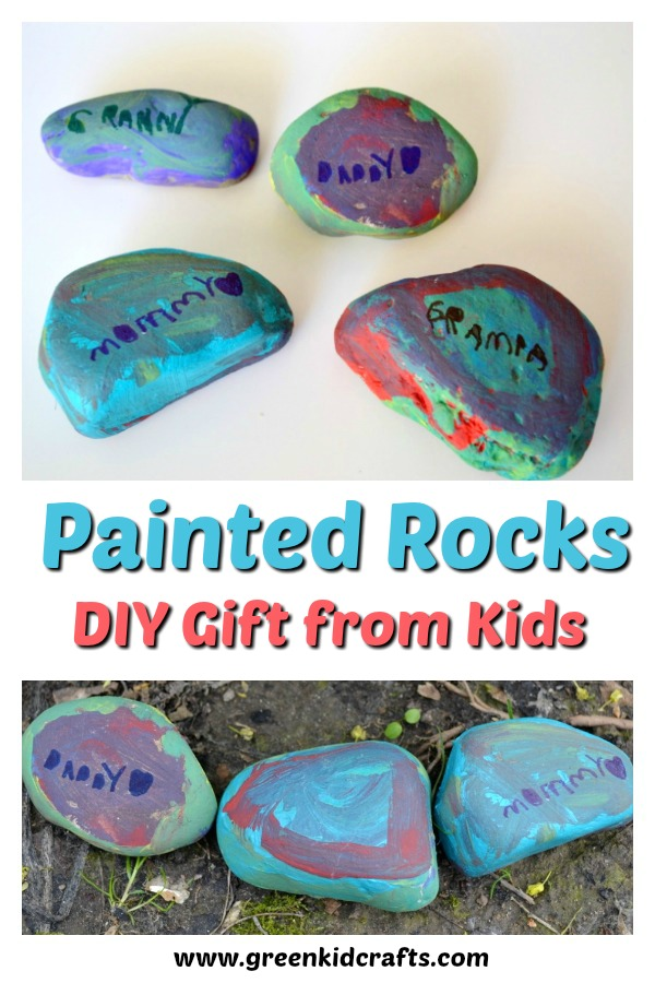 DIY gift that kids can make for mom, dad, grandparents or teachers! Painted rocks craft.