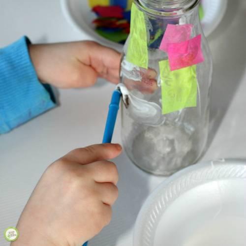 upcycled bottle vase