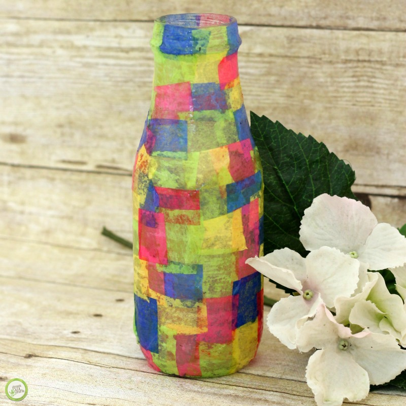 upcycled bottle vase
