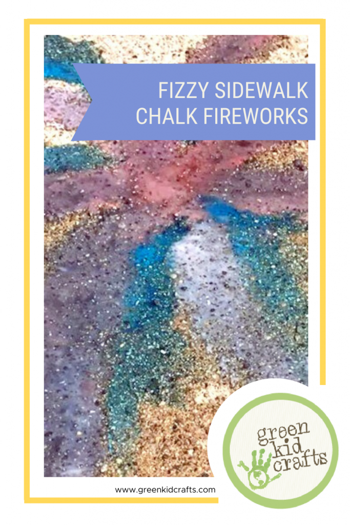 Fizzy Sidewalk Chalk Fireworks